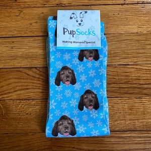 NWT PupSocks Winter Snowflake Cocker Spaniel Socks